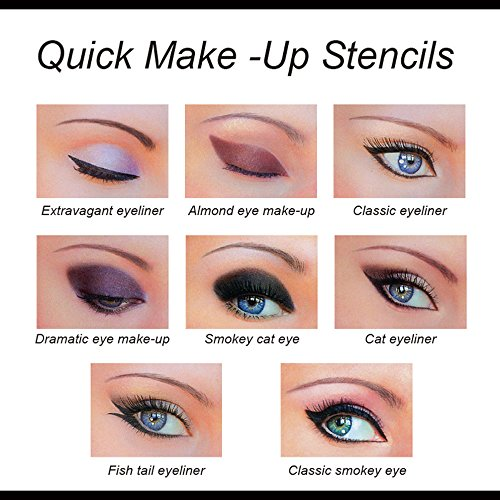 LetGoShop In Eye Stencil Models Template Cat Eyeliner Eyebrow - Eyeshadow template