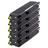 brother mfc8480dn toner - 5PK Black - SOJIINK Brother Compatible TN-650 Toner for Brother DCP8080DN DCP-8085DN HL-5340D HL-5350DN HL-5370DW HL-5370DWT MFC-8480DN MFC-8680DN MFC-8690DW MFC-8890DW