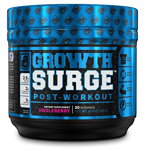 Growth Surge Post Workout Muscle Builder with Creatine, Betaine, L-Carnitine L-Tartrate – Daily Muscle Building Recovery Supplement – 30 Servings, SWOLEBERRY Flavor