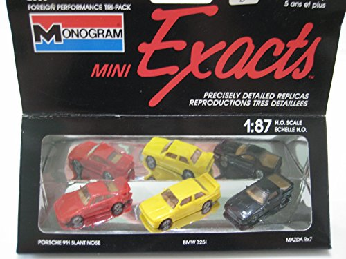 (Monogram Mini Exacts (China Red Porsche 930 Slant Nose Plastic 1:87 Nib)