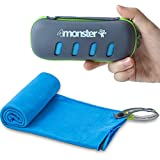4monster Microfiber Towel, Travel Towel, Camping Towel, Gym Towel, Backpacking Towel, Hiking Towel, Fast Drying Super Absorbent Travel Case