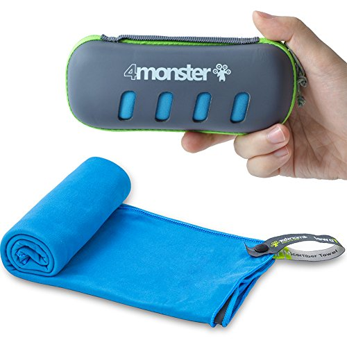4Monster Microfiber Towel, Trave...