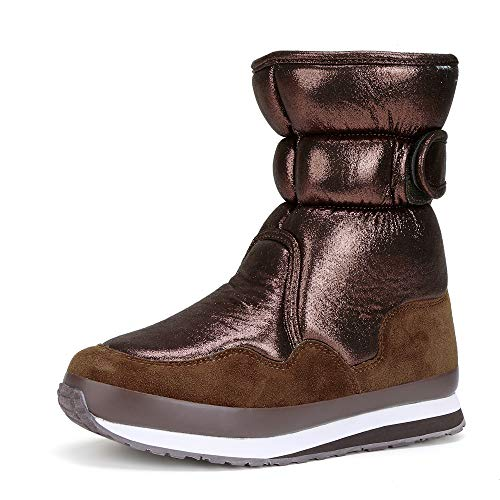 - FUNKYMONKEY Women's Winter Classic Suede Snow Boot