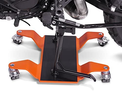 orange ConStands Dolly Mover for Honda VFR 1200 F for Centre Stand Mover II 320 kg max