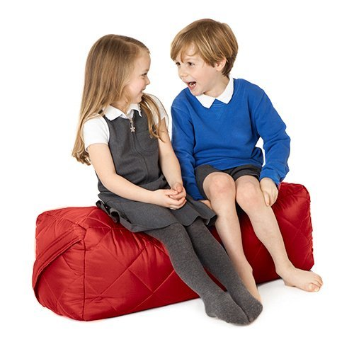 Fun!ture Red Quilted Water Resistant Rectangular Bean Bag