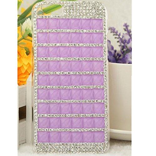 EVTECH (TM) Coque 3D Bling Strass Case Transparent Back Cover Cristal Etui Housse Hard Coque pour Apple Iphone 6 (4.7'')