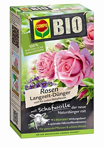 Compo 20292 Bio Rosen Langzeit-Dünger mit Schafwolle, 2 kg