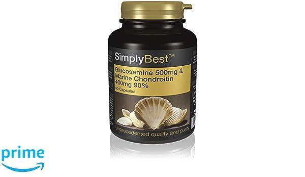 Glucosamina 500mg y Condroitina 400mg - 60 cápsulas - Hasta 2 meses de suministro - Favorece unas articulaciones sanas - SimplySupplements: Amazon.es: Salud ...