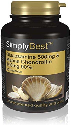 Glucosamina 500mg y Condroitina 400mg - 60 cápsulas - Hasta 2 meses de suministro - Favorece unas articulaciones sanas - SimplySupplements: Amazon. es: Salud ...