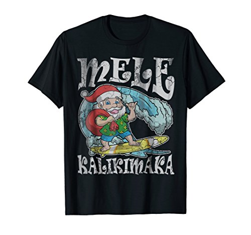Christmas Mele Kalikimaka Santa Hawaii T-Shirt