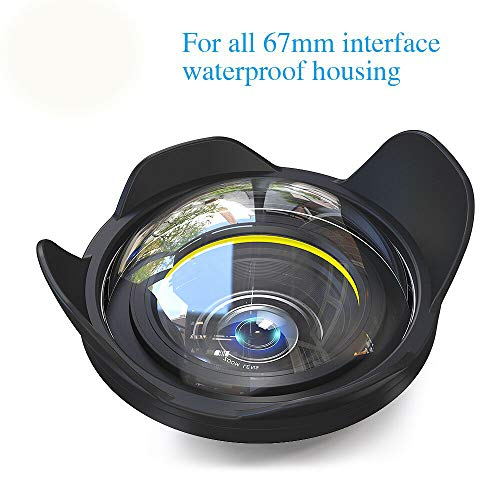 Sea frogs Big Wide Angle Wet Correctional Dome Port Lens for Underwater Housings (67mm Round Adapter)