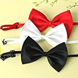 SKL Set of 3 Adjustable Dog Bow Tie Pet Collar