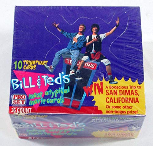 1991 Pro Set Bill and Ted's Movie Trading Card Box 36 Packs from Kruk Cards