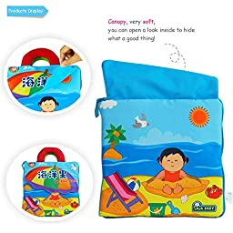 LALABABY Ocean Story Cloth Book Early Education Toy for Over 6 Months