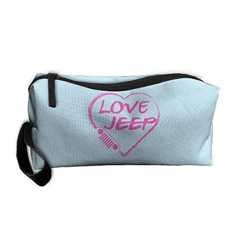 Love Jeep Pink Travelling Makeup Pouch For Womens Cosmetic Case With Zipper (One Size, Love Jeep Pink) by Fzjy Wnx