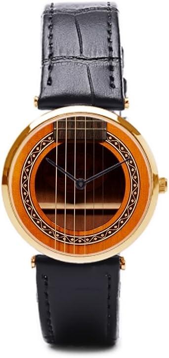 puppya Reloj de Pulsera Correa de Piel para Guitarra en línea ...