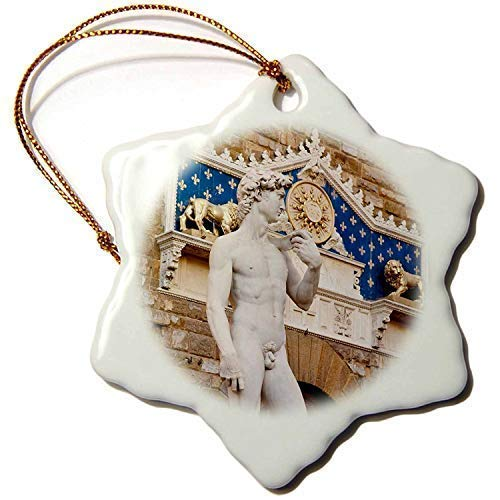 Cheyan Copy of Michelangelos David Statue, Florence Italy Brian Jannsen Ceramic Christmas Ornaments 2018 Novelty for Christmas Decorations,Tree Decor