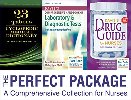 Pkg: Tabers 23e Index, Vallerand Drug Guide 15e & Van Leeuwen Hnbk Lab & Dx Tests 7e