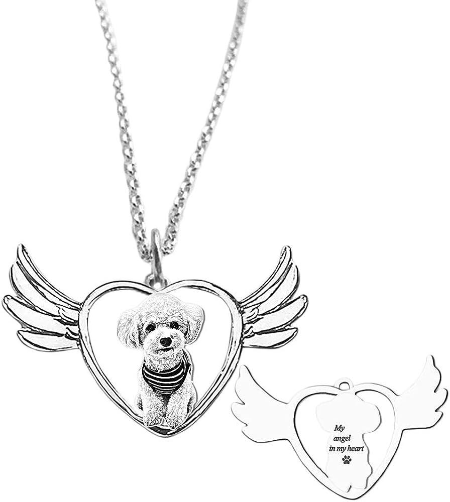 e'w'r'w'erwerwe Collar De Mujer Personalizado Grabado Texto Y Foto Corazón Mujer Collar Regalo Personalizado para Mujer