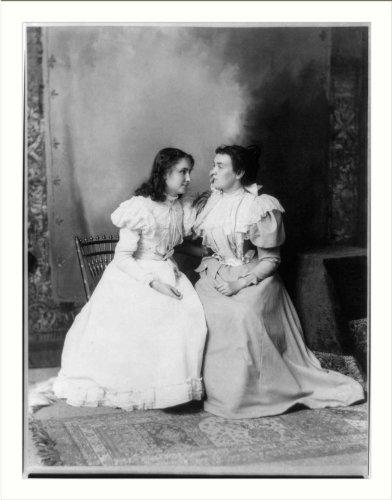 Historic Print (L): Helen Keller and Anne Sullivan (Images Of Helen Keller And Anne Sullivan)