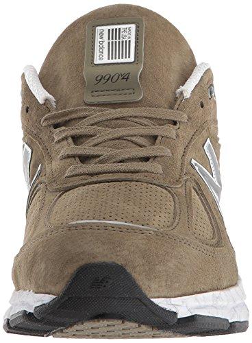 New Balance Men's 990v4 Running Shoe, Covert Green/White, 7 D US by New Balance (Image #4)