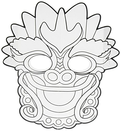Chinese Paper Dragon Costume (Amscan 360200 Chinese New Year Colour Your Own Dragon Mask by Amscan)