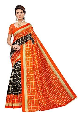Upmanyu Fashion Women's Bhagalpuri Silk Saree With blouse Piece