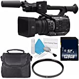 Panasonic AG-UX90 4K/HD Professional Camcorder (International Model) + 128GB SDXC Class 10 Memory Card + 67mm UV Filter + Deluxe Cleaning Kit + Carrying Case Bundle