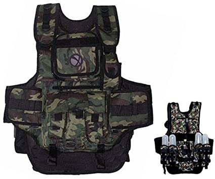 Amazon GxG Army Swat Paintball Airsoft Tactical Vest Camo Beauteous Tactical Gear Display Stand