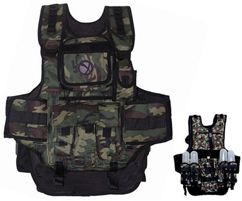 GXG Army Swat Paintball Airsoft Tactical Vest Camo (Tank Stubby)