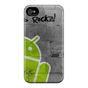 New Arrival Case Specially Design For Iphone 4/4s (android Rocks)