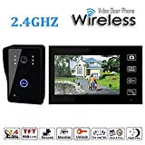Olymstore 2.4G 7'' TFT Color Display Wireless Video Door Phone Intercom Doorbell Home Security 1-Camera 1-Monitor