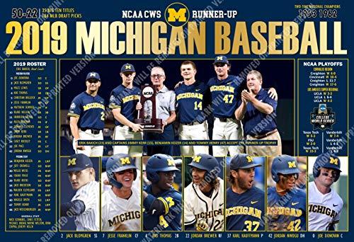 (PosterWarehouse2017 2019 College World Series Runner-UP Michigan 19