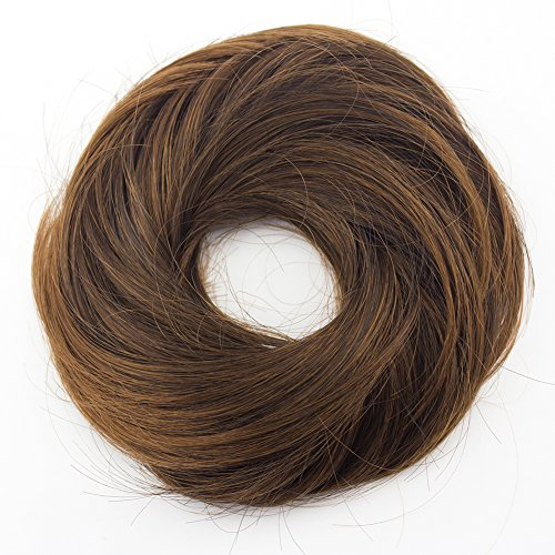 MERRYLIGHT Donut Chignon Messy Bun Hair Piece Hairpieces Hairpiece Scrunchy Mixed Golden BrownT4/12