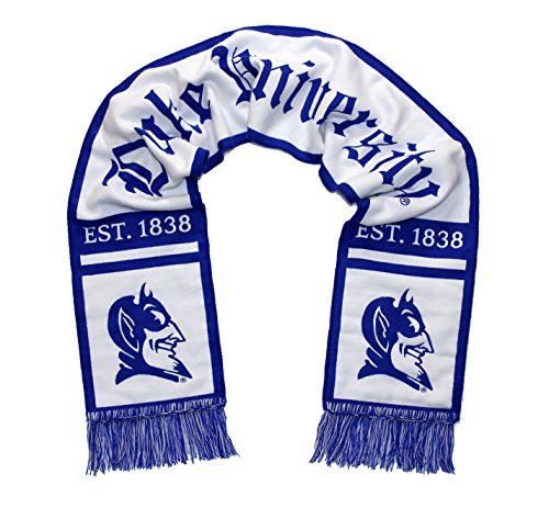 Tradition Scarves Duke Blue Devils Scarf - Duke University Alternate White Woven