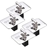 truck bed winch mount - Stainless Steel Tie Down Anchor Pop-Up Bed Rail Stake Mounts | 2 Set (4 PC)