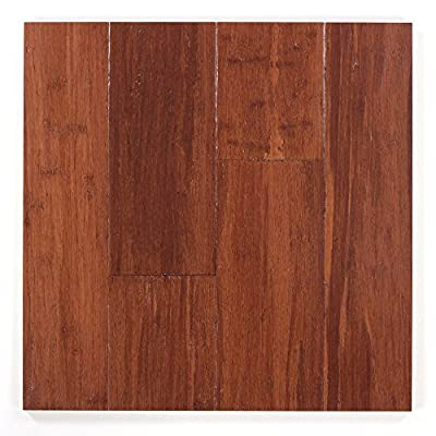 Handsculpted Strandwoven Almond 1/2 in. x 5 x 72-3/4 in. Length Tongue & Groove Engineered Bamboo Flooring (19.92 sq. ft./case)