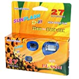 Sunflash One-time Use 35mm Flash Camera 27 Exposures Indoor or Outdoor Use (Pack of 12)
