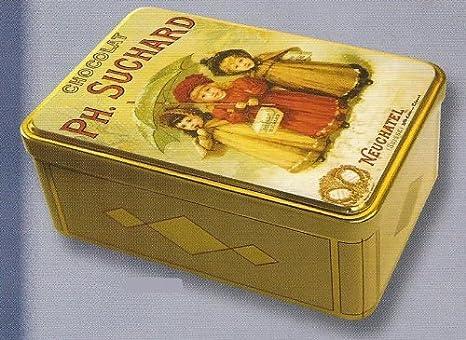 FRANCIA VINTAGE CAJA DE AZUCAR METAL 19x13x7cm CHOCOLATE SUCHARD: Amazon.es: Hogar