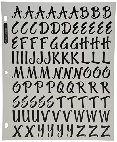 Sticko Alphabet Stickers, Brush Black