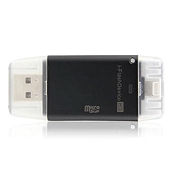Tenlacum Mini i-Flash Drive USB HD / TF lector de tarjetas para el iPhoneX 8 7 7Plus 6s 6s Plus 6 6plus 5s 5 iPad, I-flash USB STICK TF Micro SD ...