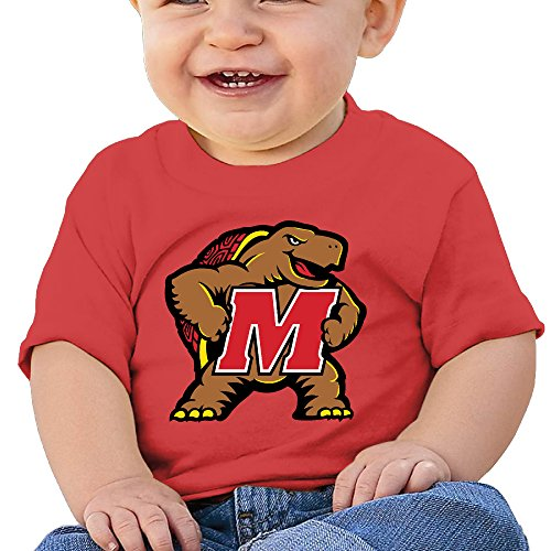 GUC Baby's T-shirts - University Of Maryland M Red