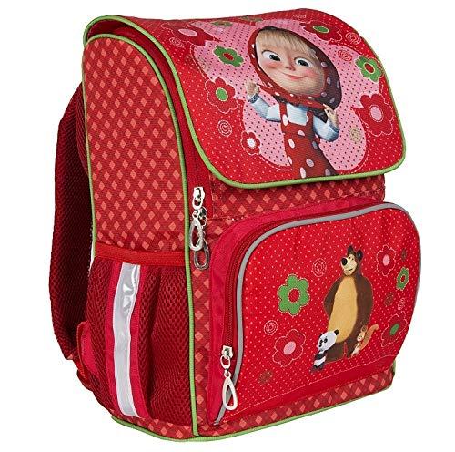Average Preschool/School Backpack Masha and the Bear Red