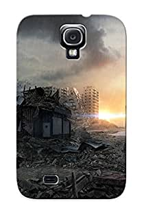 Eatcooment LSrdPnm1861NuSjU Case For Galaxy S4 With Nice Postapocalyptic City Appearance