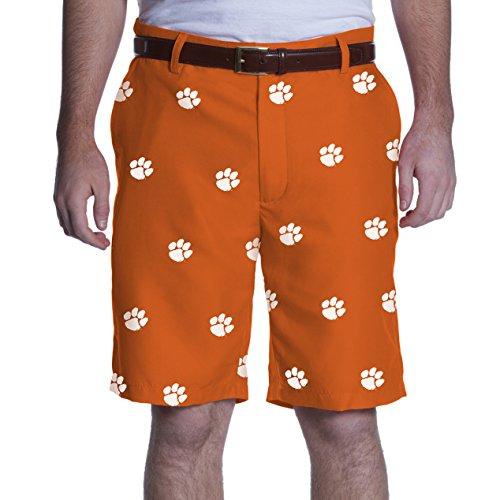 (NCAA Adult Men's Game Changer Shorts, Clemson Tigers, 32, Orange)