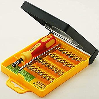 Jackly 32 in 1 Interchangeable Precise Screwdriver Tool Set (Flat) with Magnetic Holder