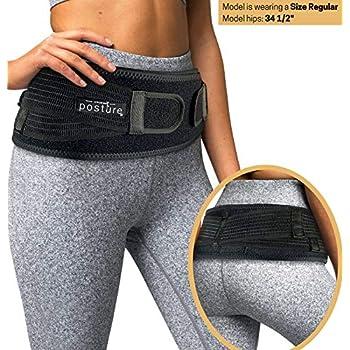 Sacroiliac Hip Belt for Women and Men That Alleviate Sciatic, Pelvic, Lower Back and Leg Pain, Stabilize SI Joint | Trochanter Belt | Anti-Slip and Pilling-Resistant (Black, Regular)