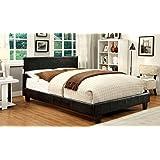 Furniture of America Torrance Platform Bed with Bluetooth Speakers, Queen, Espresso