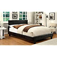 Furniture of America Torrance Platform Bed with Bluetooth Speakers, Eastern King, Espresso