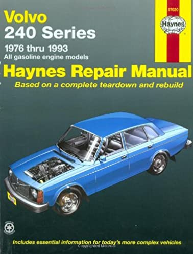 volvo 240 series 1976 thru 1993 all gasoline engine models haynes rh amazon com 1993 volvo 940 repair manual pdf 1984 Volvo 240